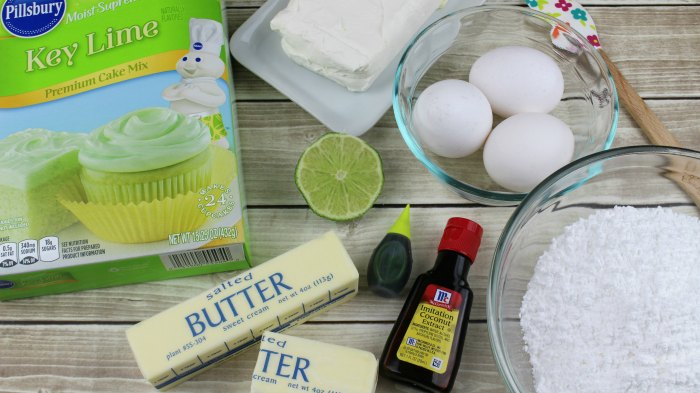 Key Lime Pie Bars Ingredients