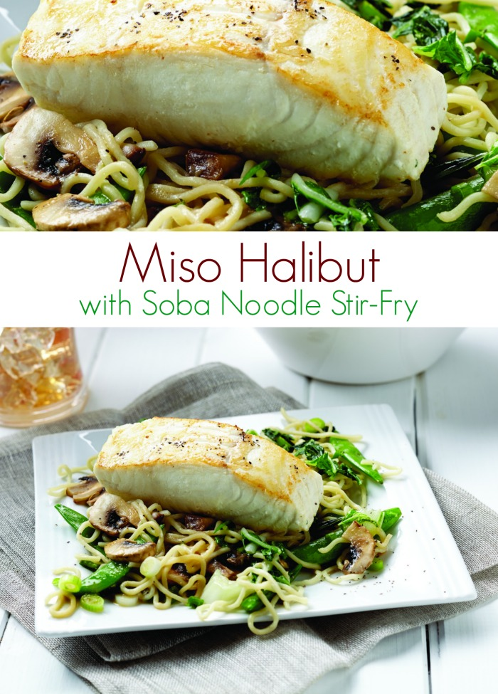 Miso Halibut Recipe with Soba Noodle Stir-Fry