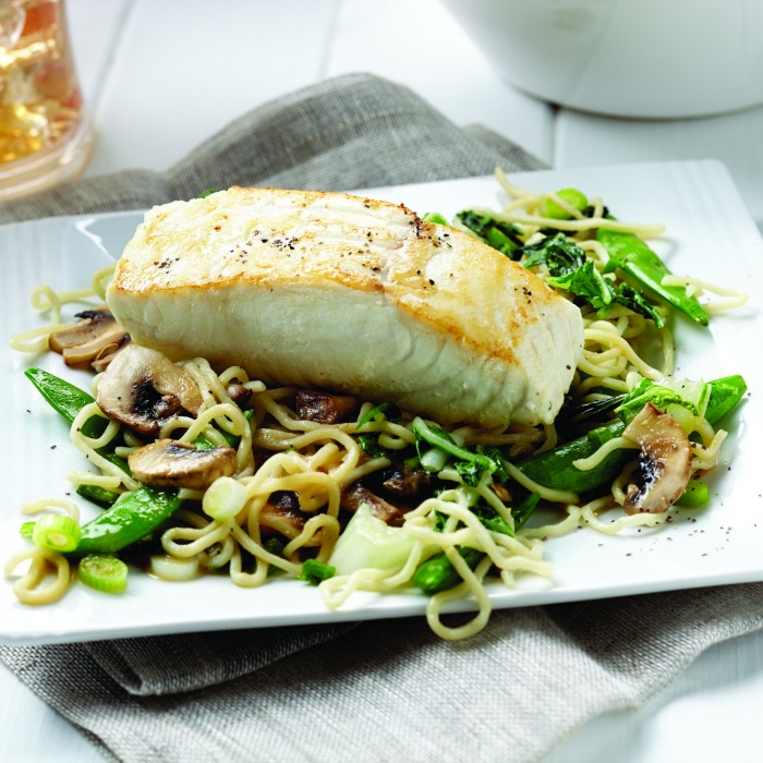 Miso Halibut with Soba Noodle Stir-Fry Square
