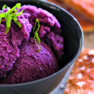 Savory Black Grape Sorbet Recipe