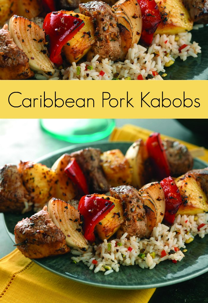 Caribbean Pork Kabobs Recipe