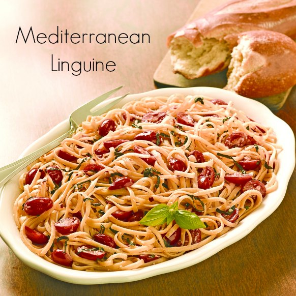 Mediterranean Linguine Recipe Square