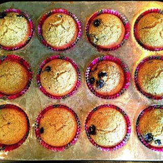 Healthy Blueberry Oat Bran Muffins