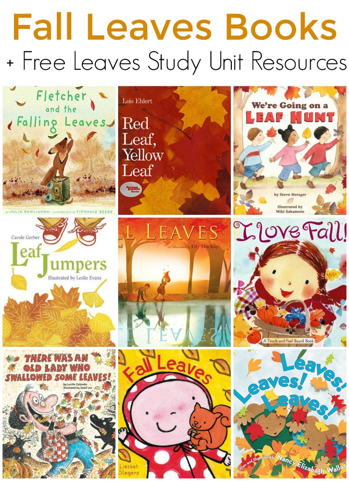 Books about Fall Leaves for Children + FREE Leaves Study Unit Resources