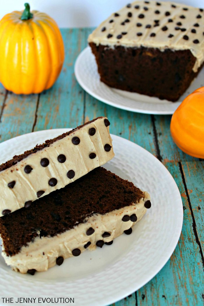 Caramel Chocolate Chunk Pumpkin Bread Recipe -- A true taste of fall!