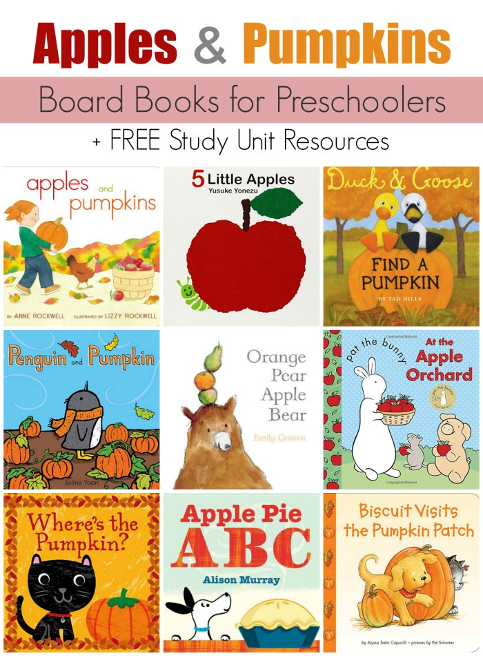 Children's Board Books about Apples and Pumpkins (Unit Study)