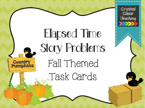Elapsed Time Story Problems - Fall Themed Freebie