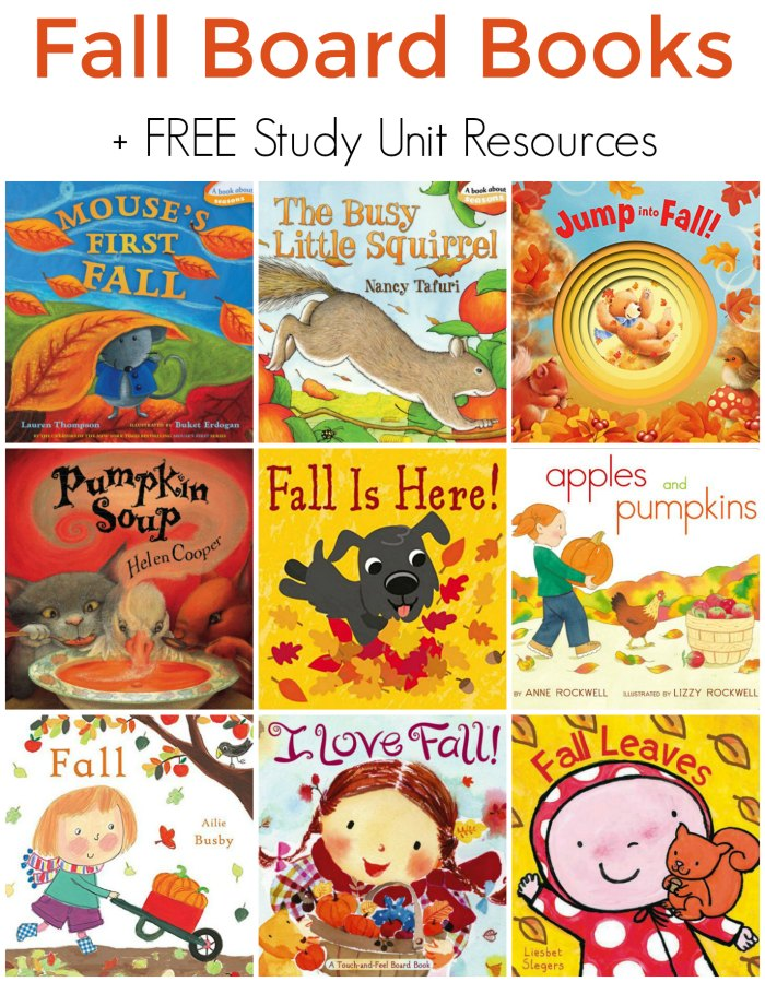 Fall Board Books for Preschoolers + Free Study Unit Resources