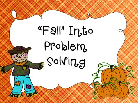 Fall Into Problem Solving Intermediate - FREE Printable