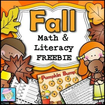 Fall Math and Literacy FREEBIE for K-2