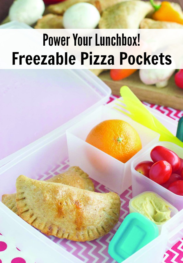 Power your Lunchbox! Freezable Pizza Pockets Recipe
