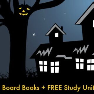 Halloween Board Books for Toddlers + Study Unit