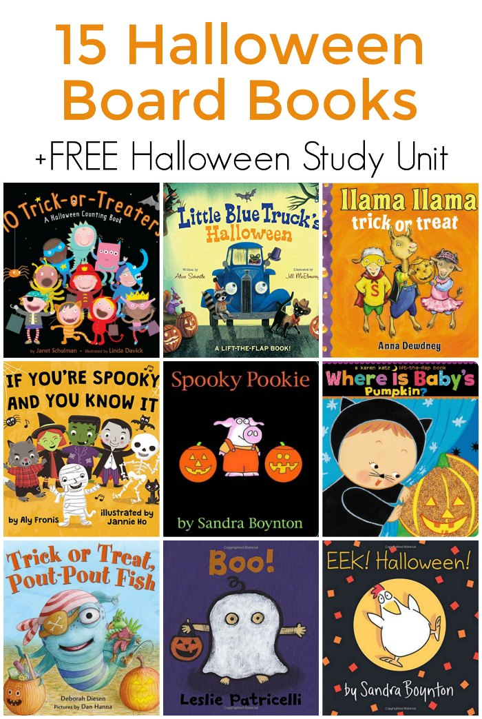 Halloween Board Books for Toddlers + Unit Study | Mommy Evolution