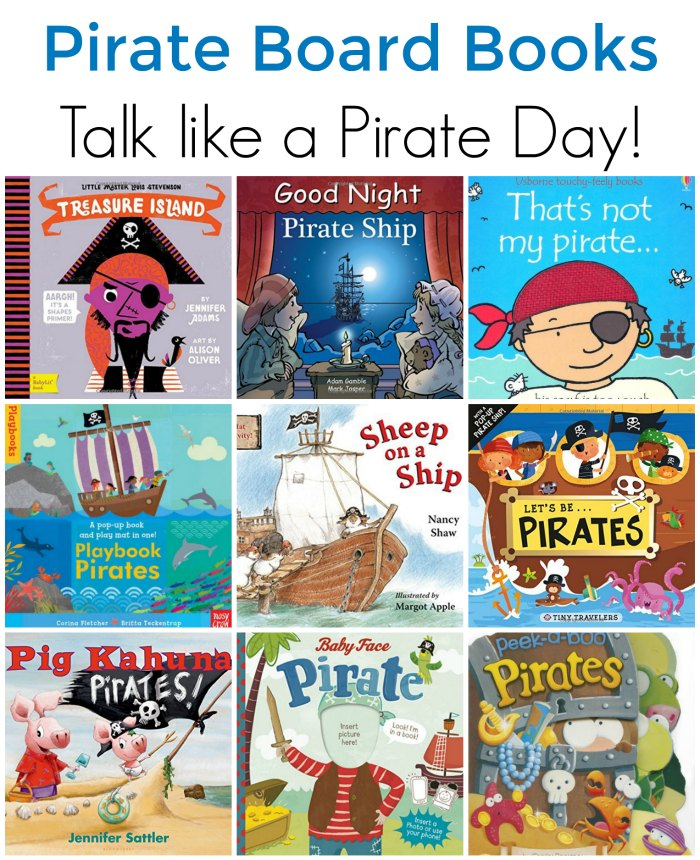 Pirate Board Books for Toddlers and Preschoolers