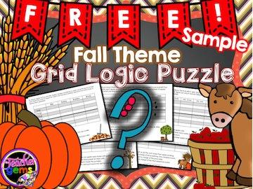 FREE Fall Theme Logic Puzzle