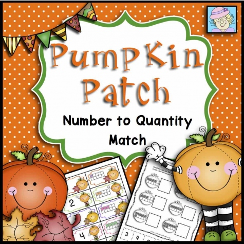 Pumpkin Patch: Number to Quantity Match - FREE Printable