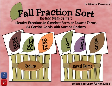 FREE Fall Fraction Sort Printables