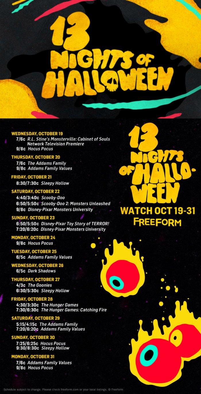 13 nights of halloween movies on freeform the jenny evolution. Black Bedroom Furniture Sets. Home Design Ideas