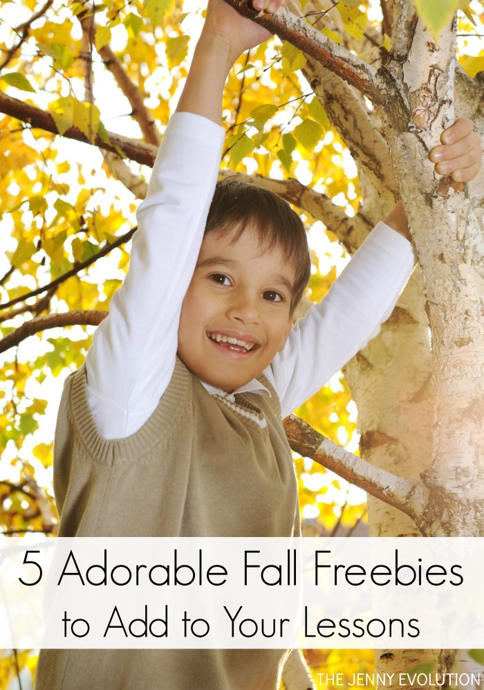 FREE Fall Worksheets! Try these 5 adorable fall freebies to add to your lessons