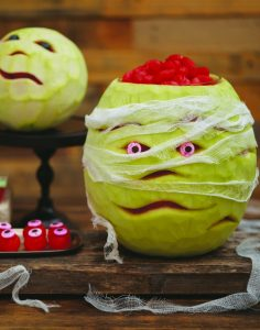 DIY Watermelon Halloween Mummy Decoration