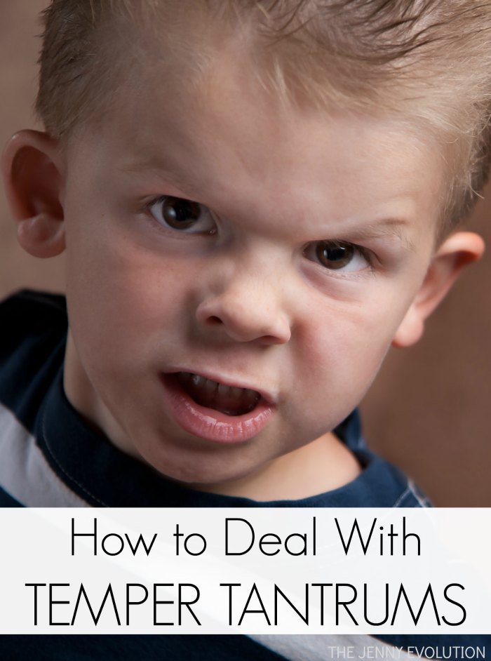 How to deal with your child's temper tantrums!