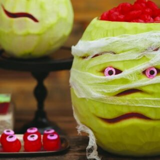 DIY Watermelon Mummy Halloween Party Decoration