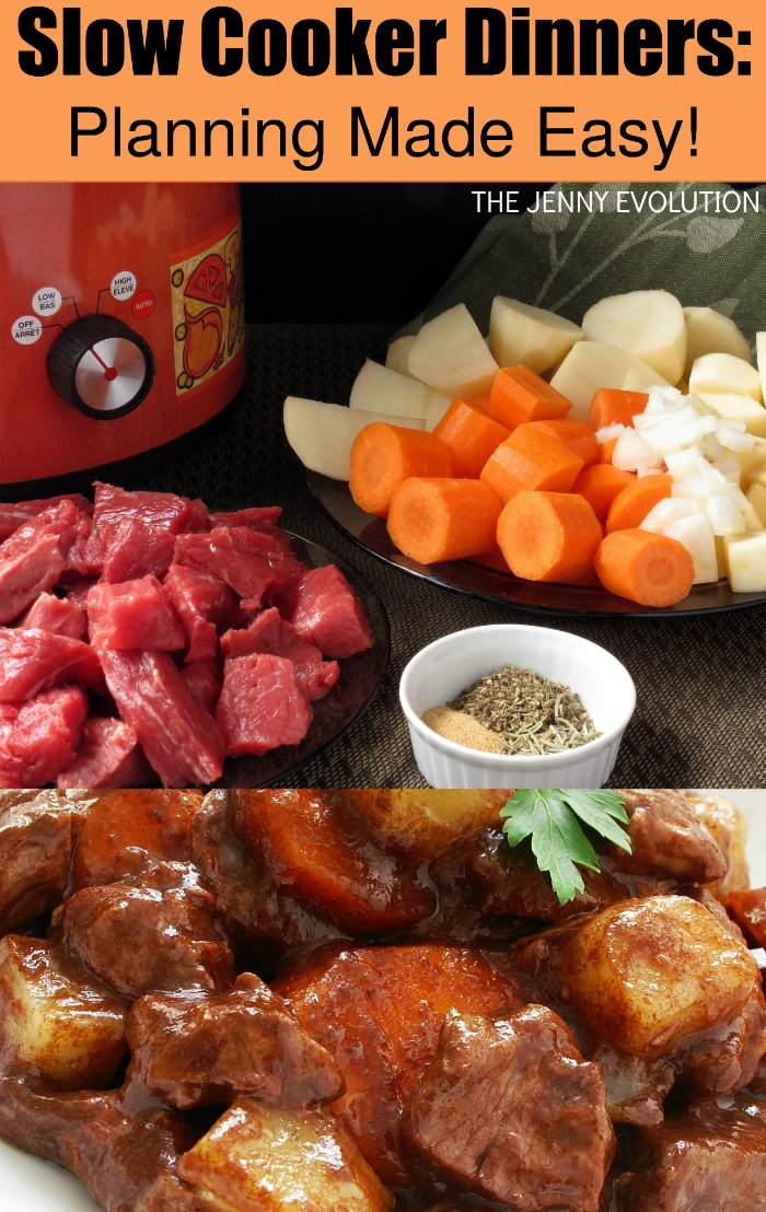 Planning Slow Cooker Dinners Made Easy! Tips to get dinner on the table with ease.
