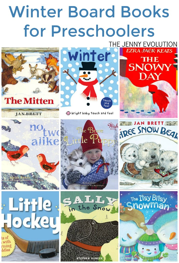 Winter Board Books for Preschoolers - Perfect Reading List for the colder months!