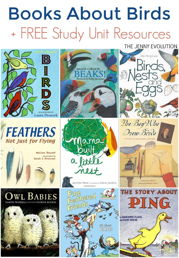 Wonderful books about Birds for kids! + FREE Study Unit Resources for Homeschool or the Classroom