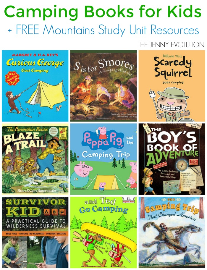 Childrens Camping Books (Mountain Unit Study) | Mommy Evolution