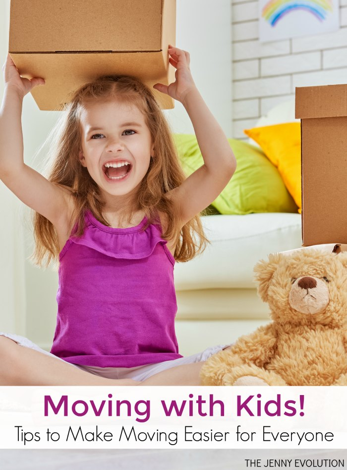 Moving with Kids -- the very thought can be overwhelming! Try these tips to make moving easier for everyone.