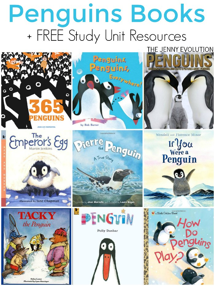 Children's Books about Penguins + FREE Study Unit Resources | The Jenny Evolution