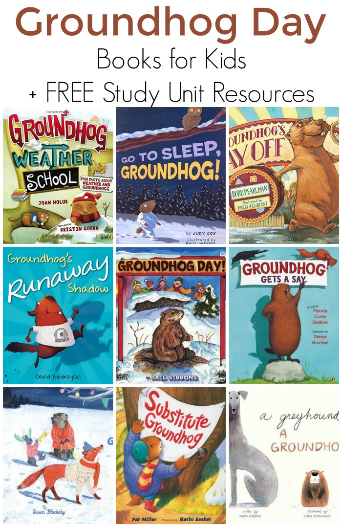 Fun Groundhog Day Books for kids PLUS FREE study unit resources for homeschool or the classroom!