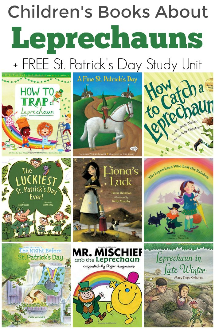Delightful Leprechaun Books for St. Patrick's Day + FREE St. Patrick's Day Study Unit for Homeschool and Classroom
