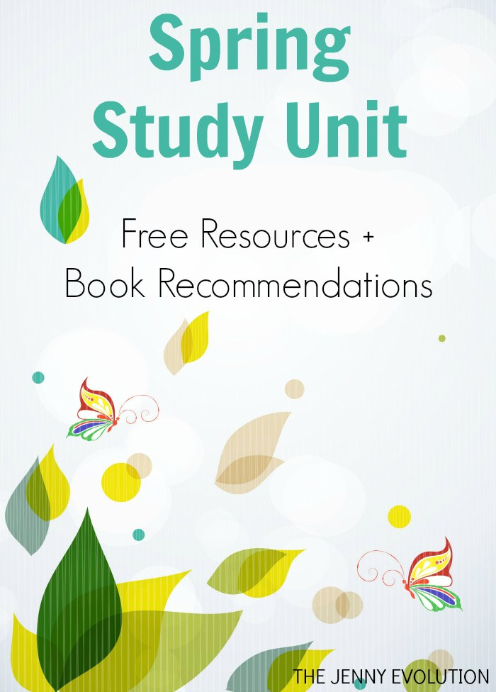 Spring Study Unit FREE Resources + Book Recommendations | Mommy Evolution