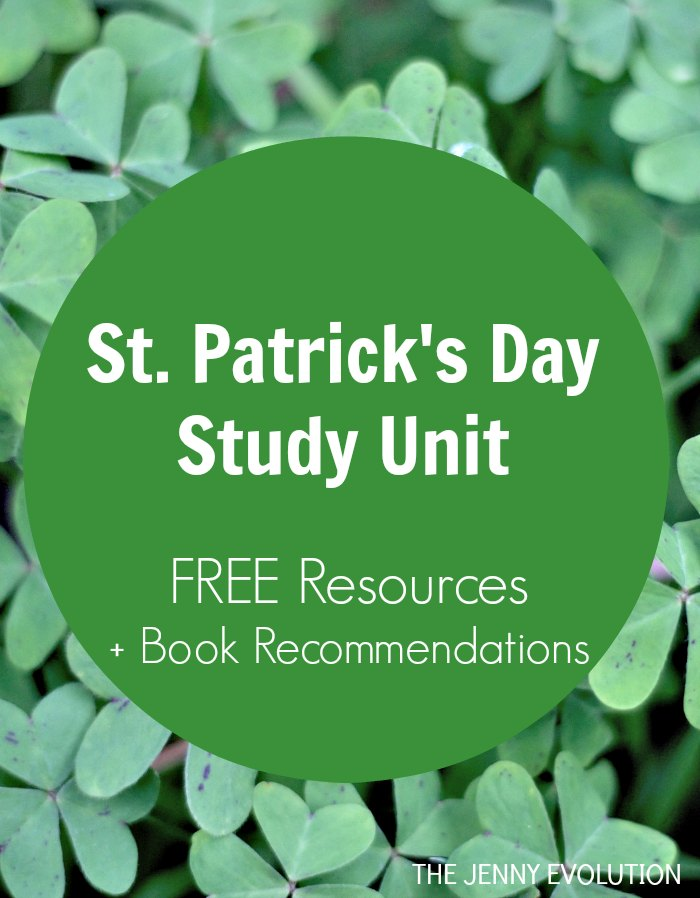 St Patrick's Day Study Unit FREE Resources + Children's Reading List Book Recommendations
