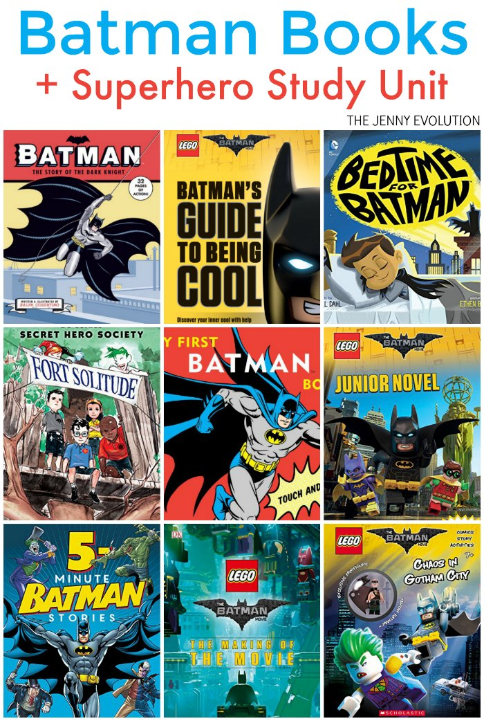 Batman Books for Kids PLUS Free Superhero Study Unit Resources for Homeschool and the Classroom | The Jenny Evolution