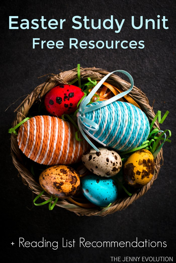 Easter Study Unit FREE Resources Plus Easter bunny books Reading List Recommendations | Mommy Evolution