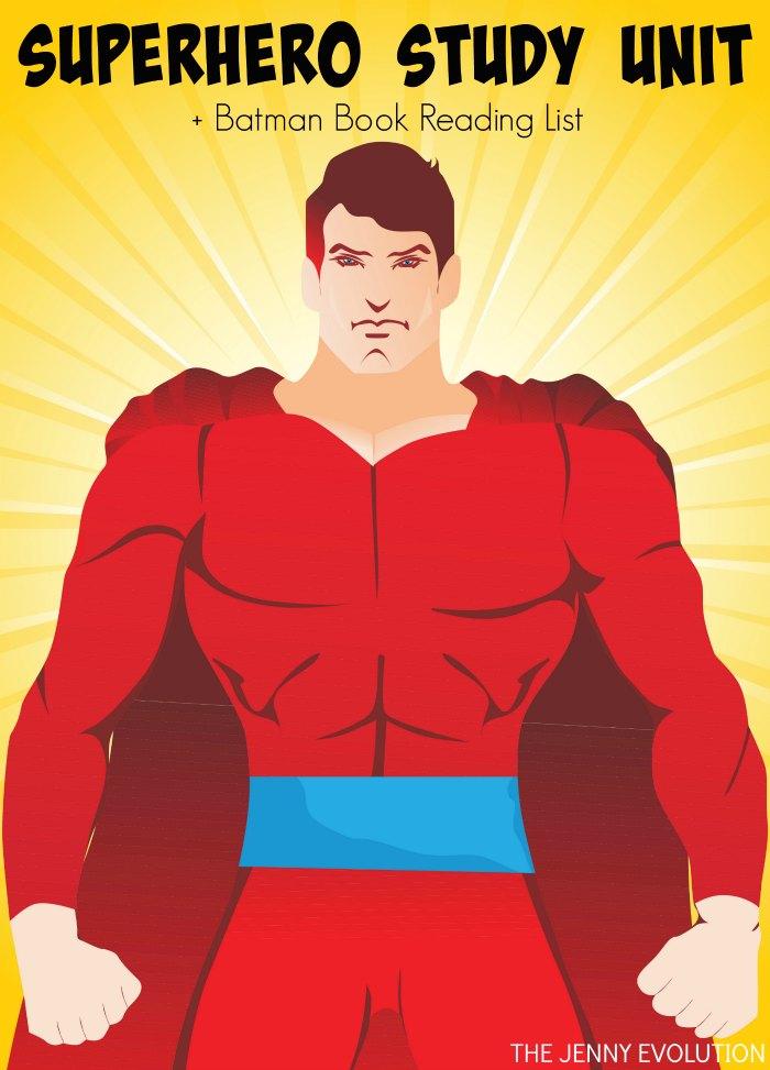 FREE Superhero Study Unit Resources + Batman Book Reading List Recommendations