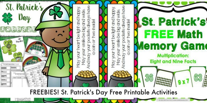 10 Free St Patricks Day Printables for Classroom and Homeschool + More than 50 St. Patrick's Day Learning Activities! on The Jenny Evolution