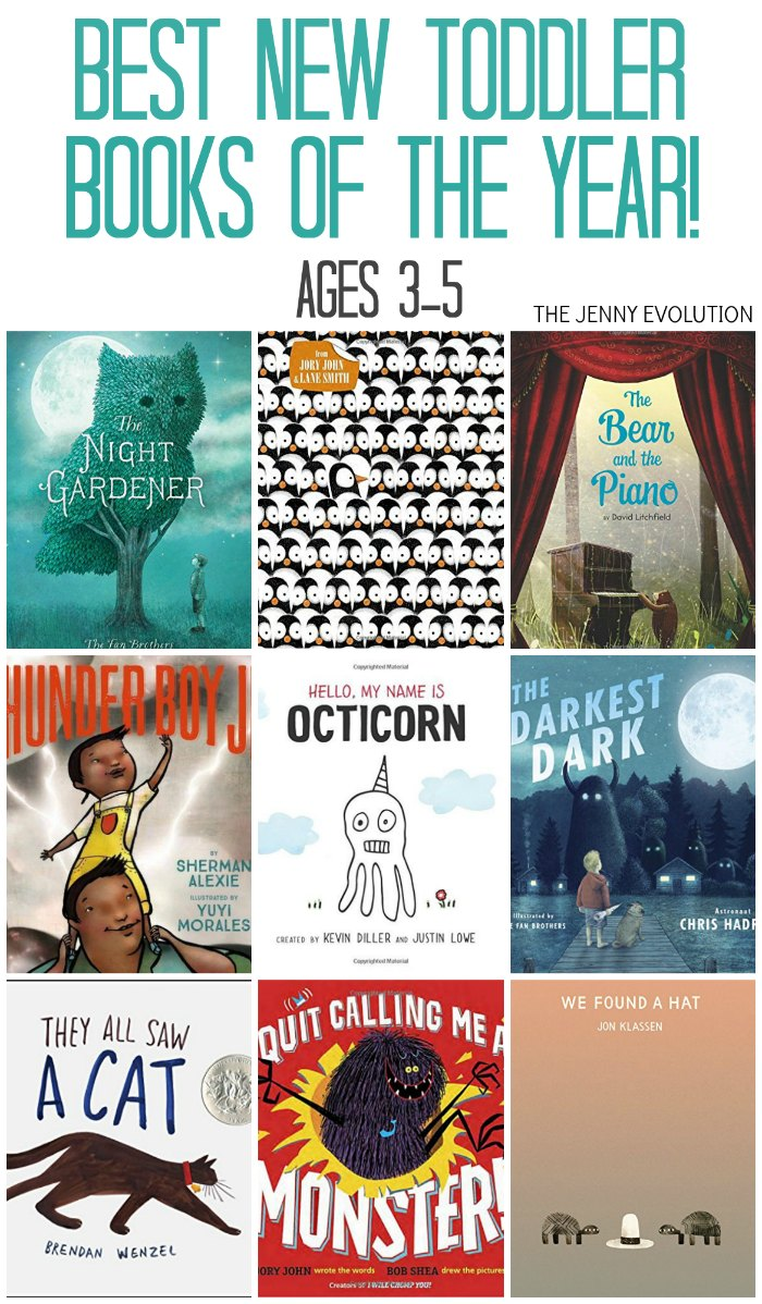 Top New Toddler Books of the Year - Find the best new books for children ages 3 to 5! on The Jenny Evolution