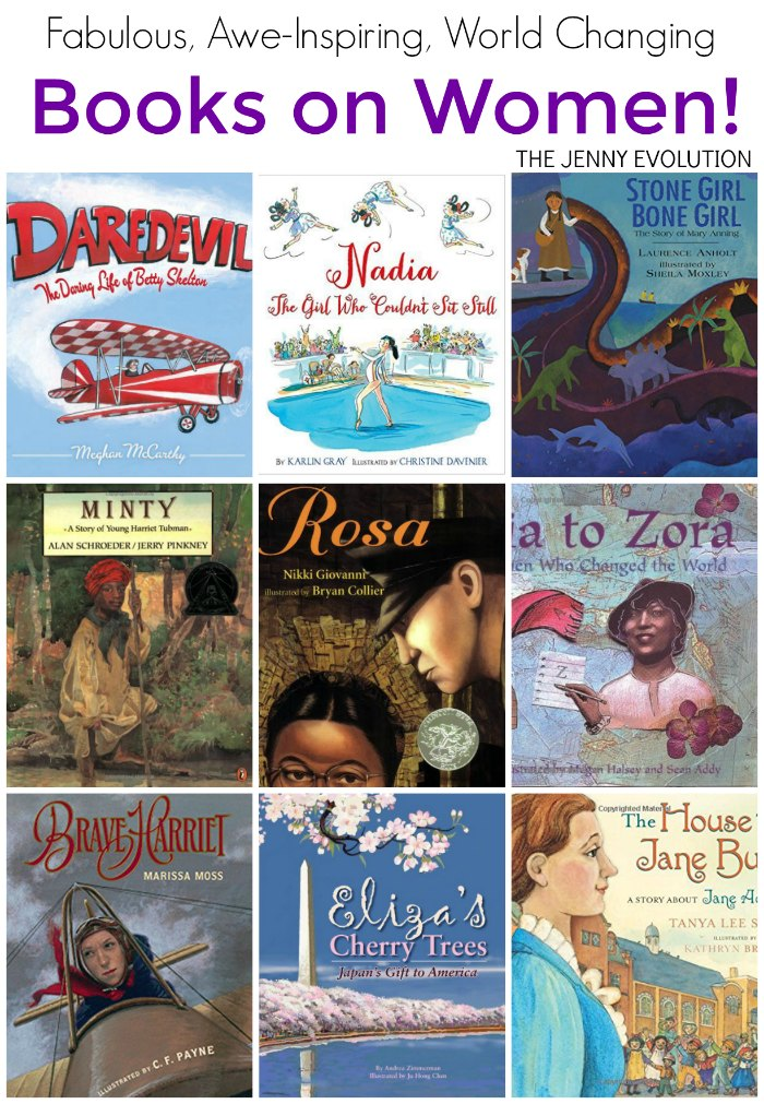BOOKS ON WOMEN! There are just too many real, fierce, inspiring, world-changing women out there! And I love that children's authors have focused on these amazing people.