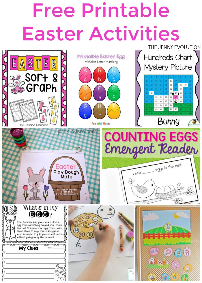 Free Printable Easter Worksheets and Activities - Great for homeschool or the classroom! | The Jenny Evolution