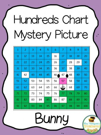 FREE Hundreds Chart Mystery Picture - Bunny