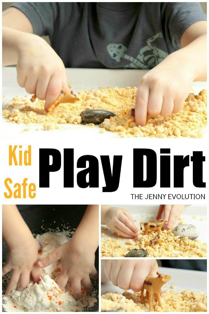 Kid Safe Play Dirt Sensory Fun | Mommy Evolution