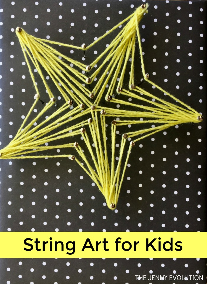 String Art for Kids - A fun fine motor art activity | Mommy Evolution