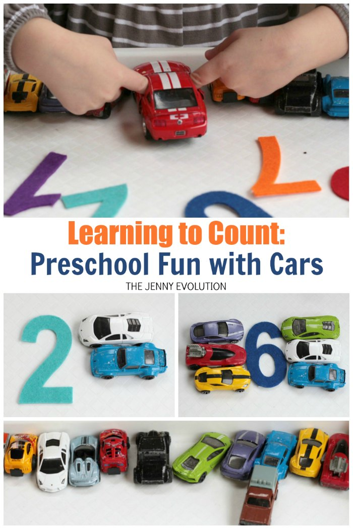 Learning to Count with Cars! This activity is a great way to get kiddos into learning their numbers and counting | Mommy Evolution