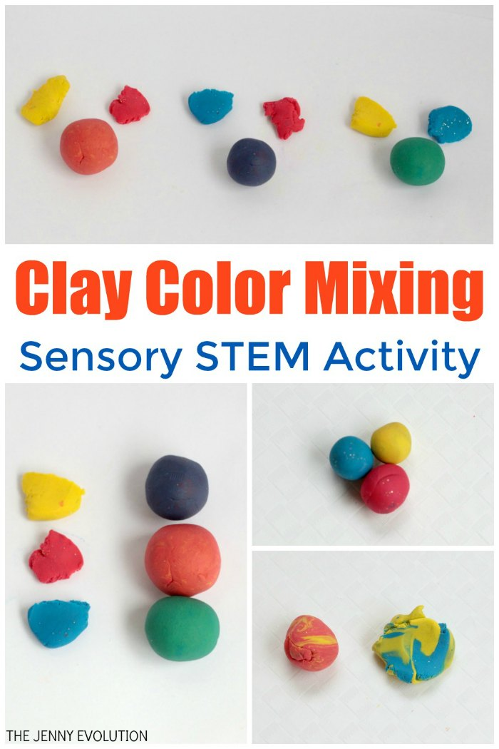 Modeling Clay Color Mixing for Kids - Easy to teach kids about colors! | The Jenny Evolution