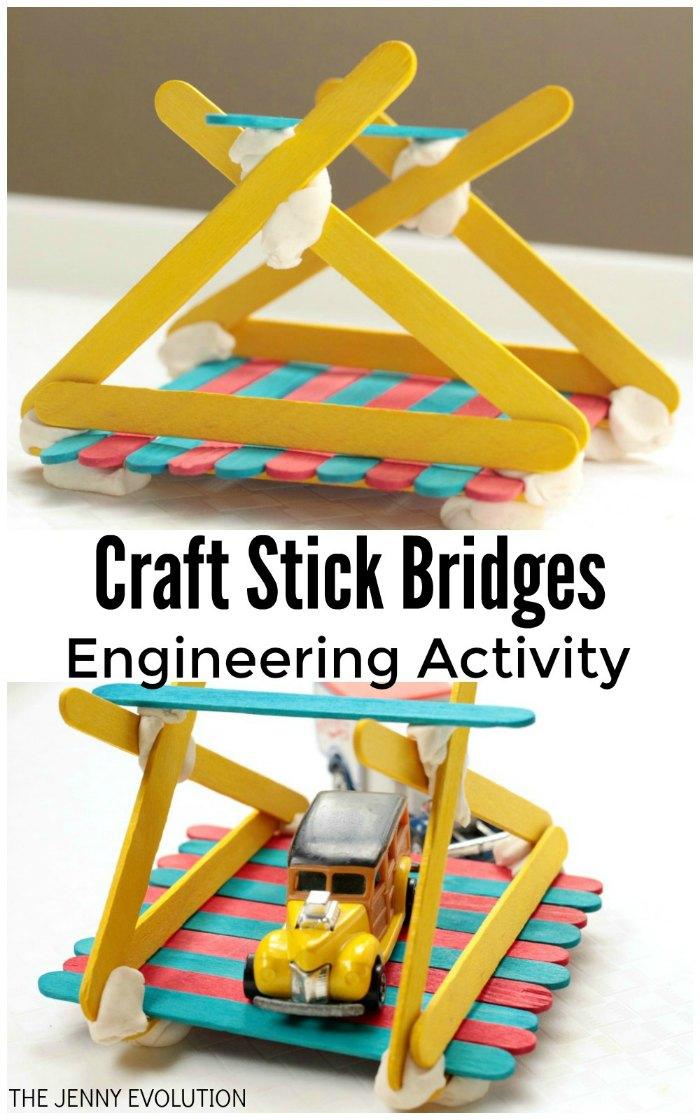 Popsicle Stick Bridge Engineering Activity Mommy Evolution