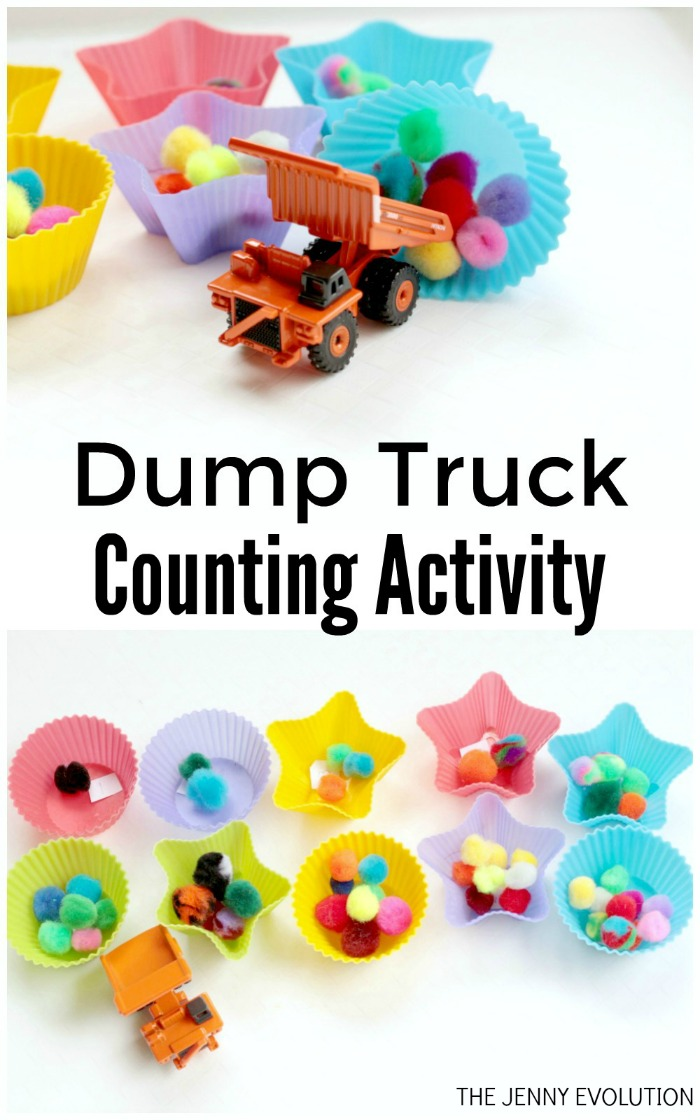Dump Truck Counting Activity for Kids - Awesome way for kids to learn how to count | Mommy Evolution